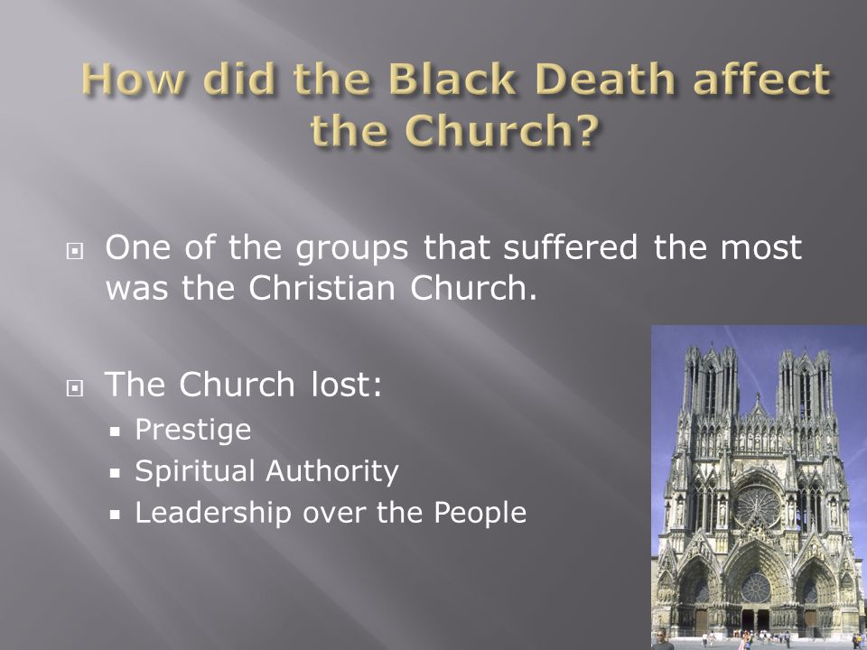  One of the groups that suffered the most was the Christian Church.