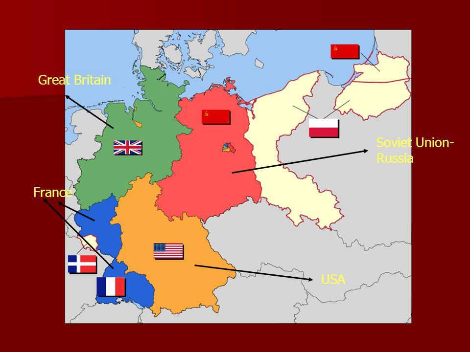 Soviet Union- Russia Great Britain USA France