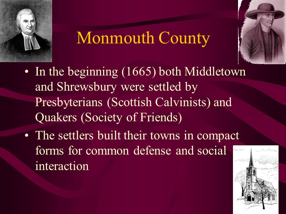 """Monmouth County Three """"villages"""" were established near- simultaneously, including the short-lived Portland Point located near Atlantic Highlands, Shre"""