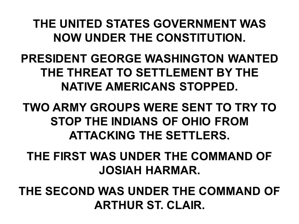 THE UNITED STATES GOVERNMENT WAS NOW UNDER THE CONSTITUTION.