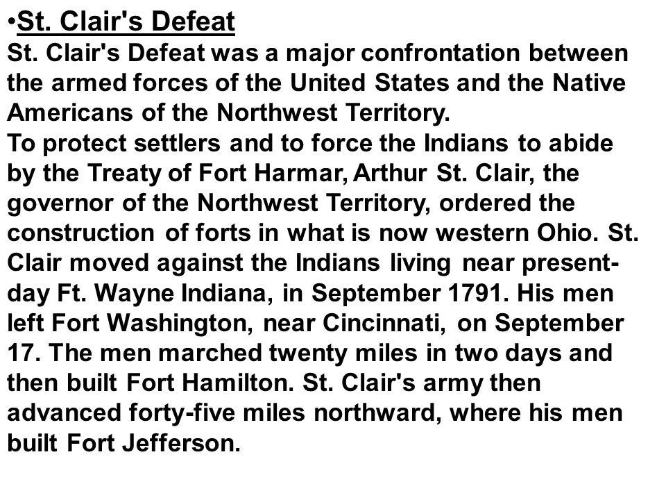 St. Clair s Defeat St.