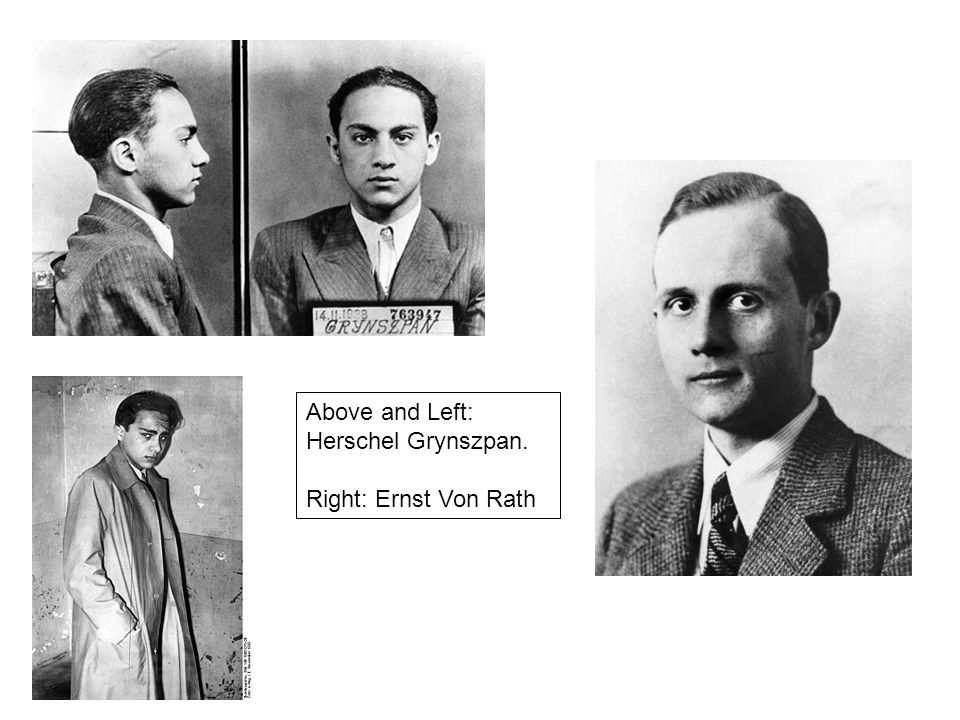 Above and Left: Herschel Grynszpan. Right: Ernst Von Rath