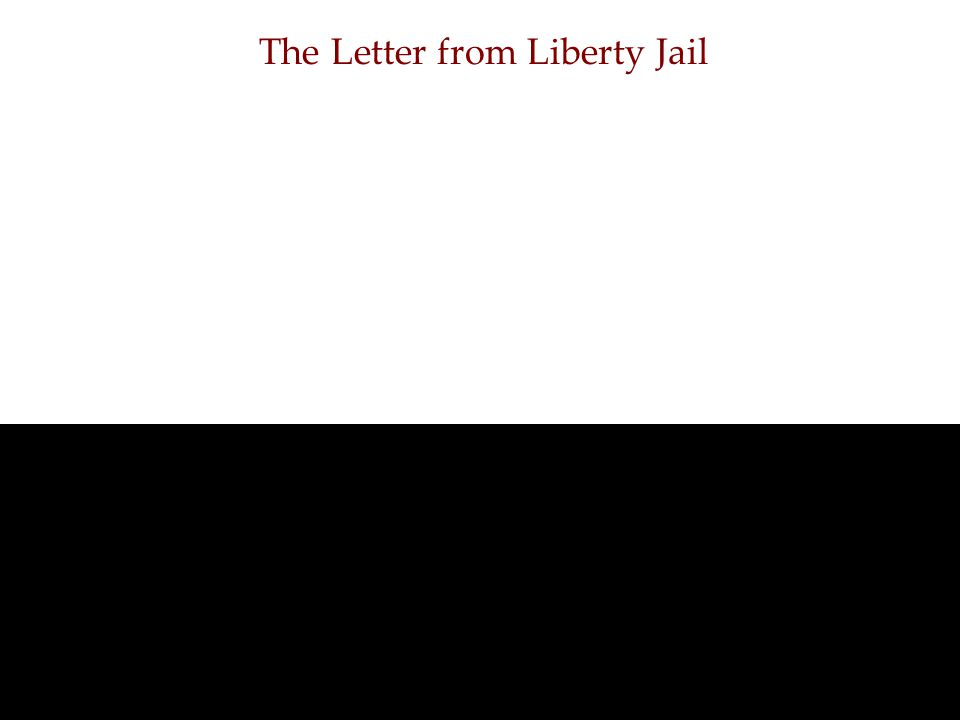 The Letter from Liberty Jail