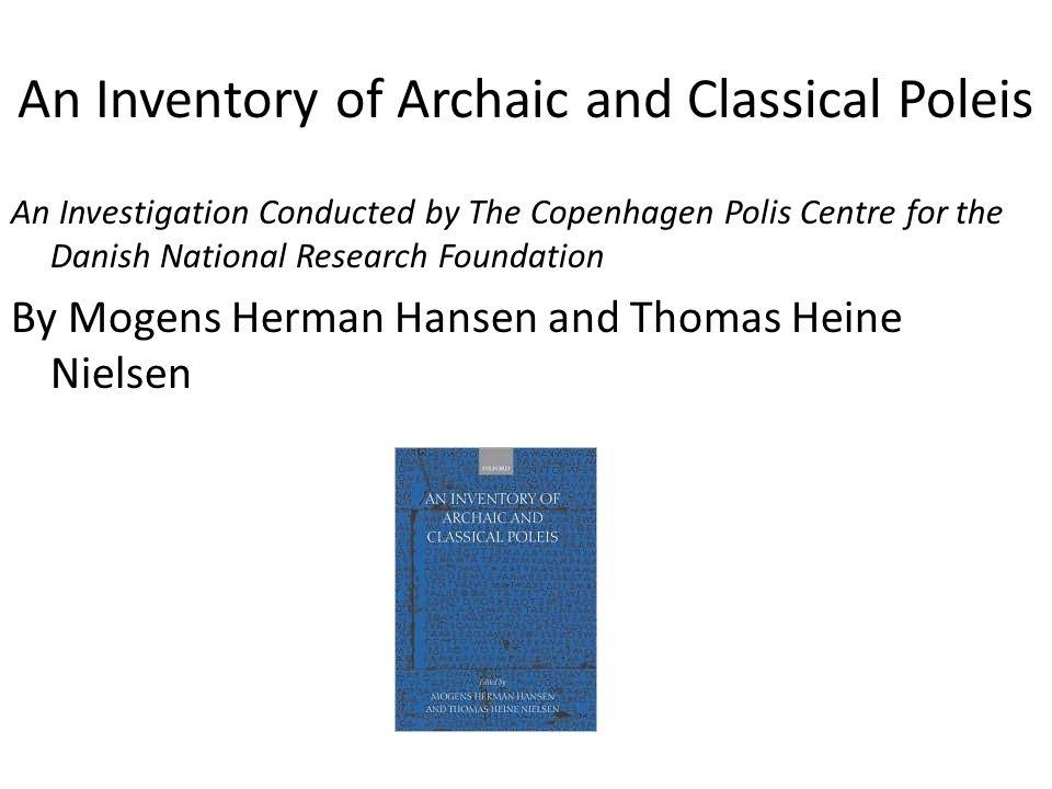 An Inventory of Archaic and Classical Poleis Epidauros (Epidaurios) Map 58.