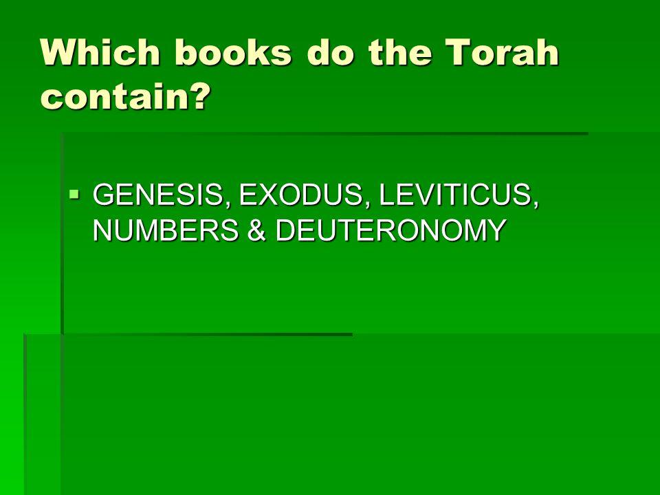  GENESIS, EXODUS, LEVITICUS, NUMBERS & DEUTERONOMY