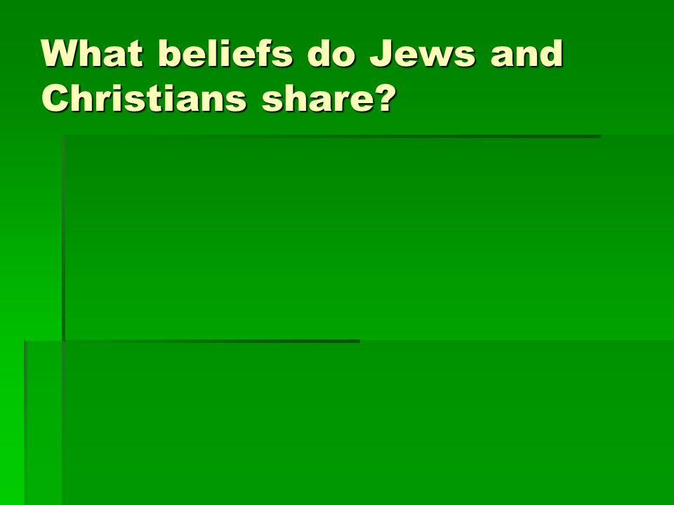 What beliefs do Jews and Christians share