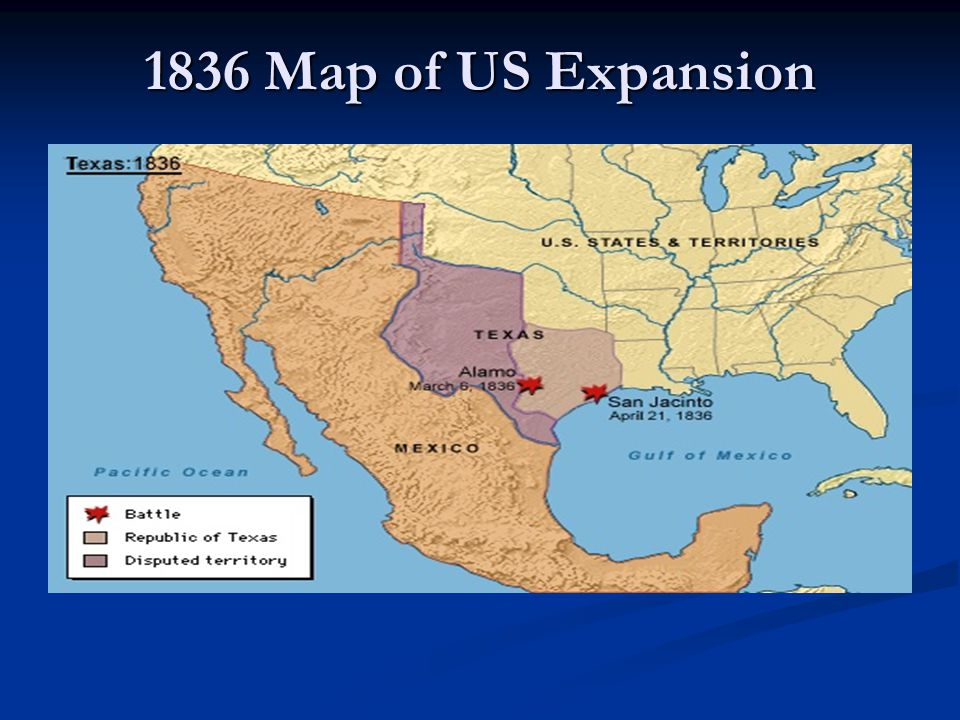 1836 Map of US Expansion