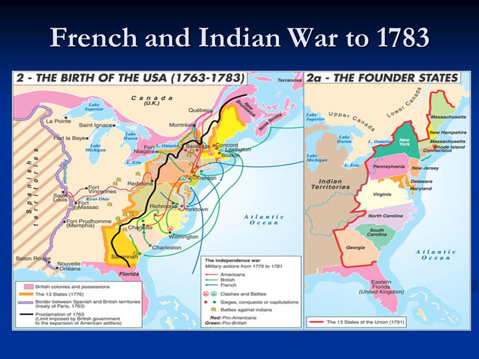 French and Indian War to 1783