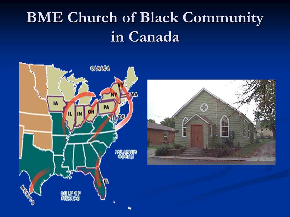 BME Church of Black Community in Canada