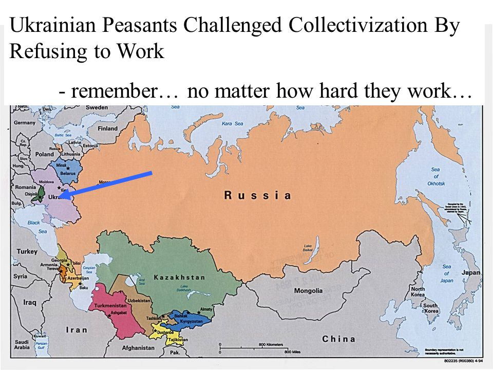 Ukrainian Peasants Challenged Collectivization By Refusing to Work - remember… no matter how hard they work…