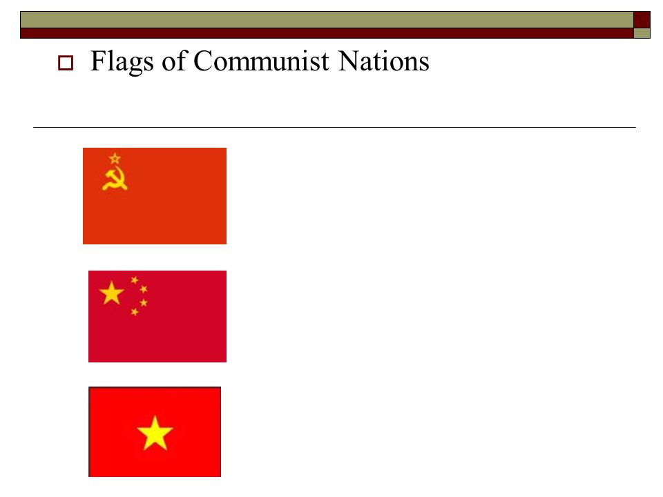  Flags of Communist Nations