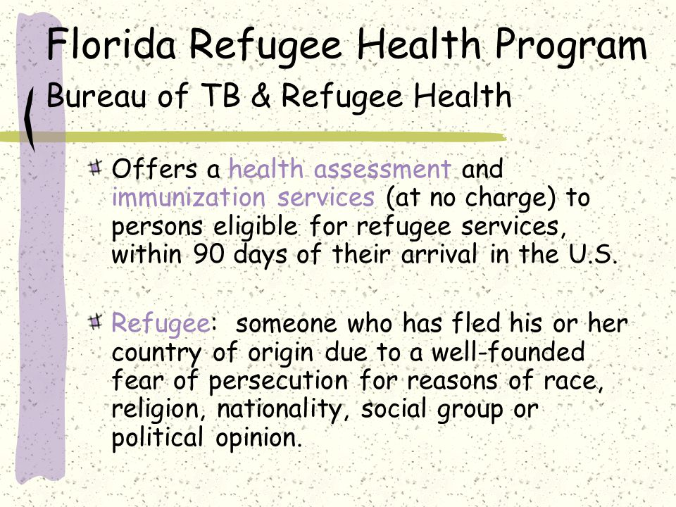 Florida receives more persons eligible for refugee services than any other state, averaging approximately 21,000 eligible new arrivals each year.