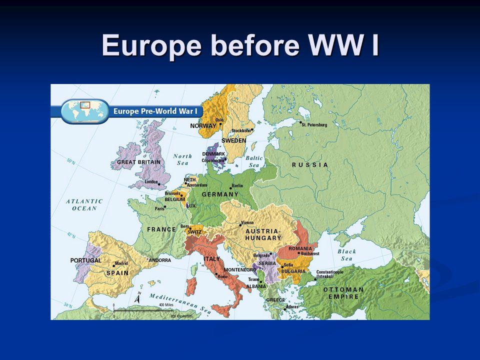 Europe before WW I