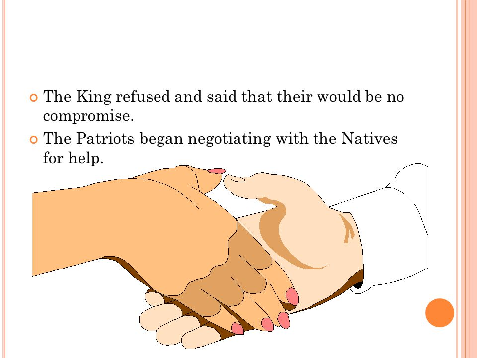The King refused and said that their would be no compromise.