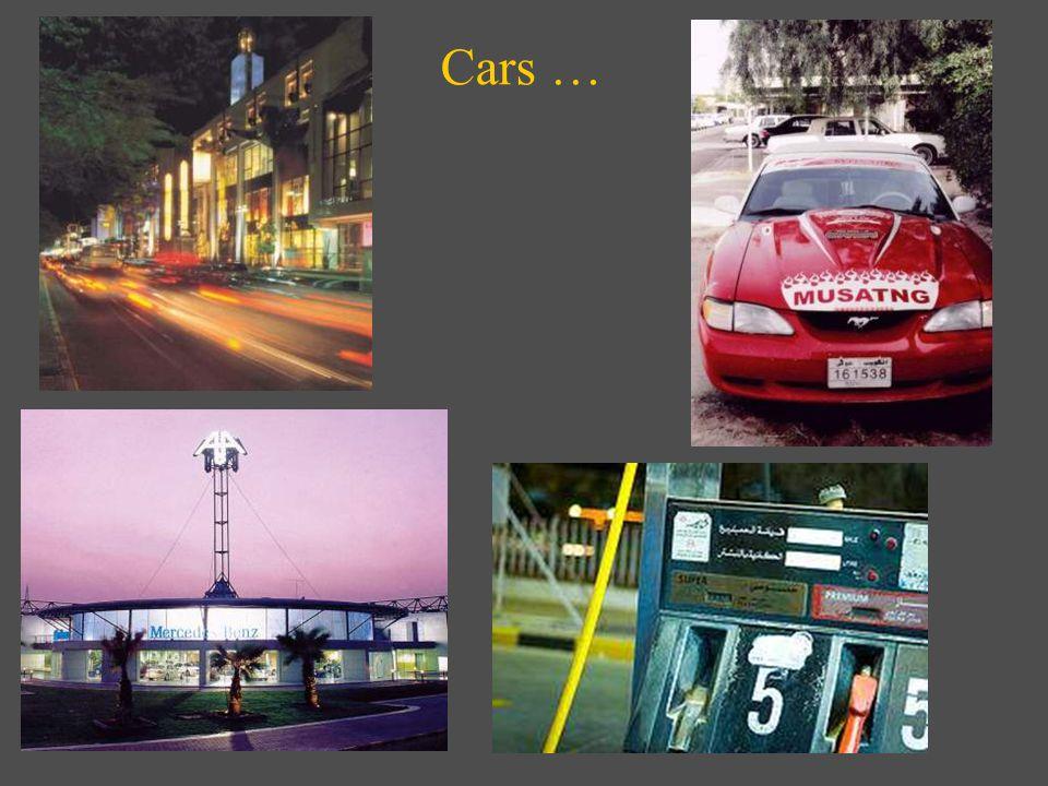 Cars …