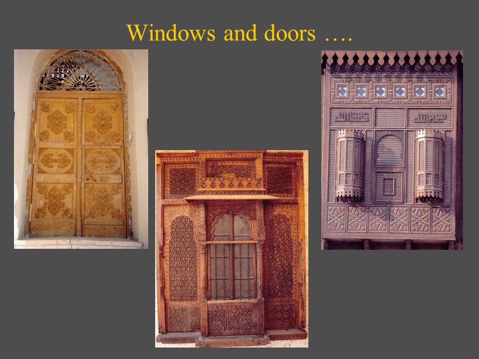 Windows and doors ….