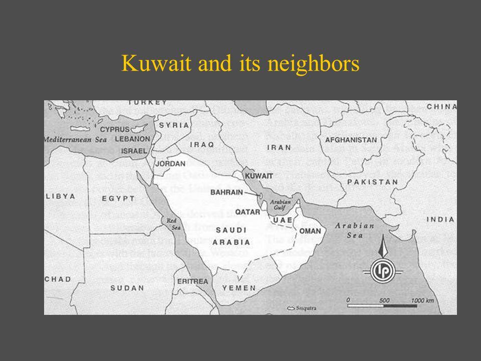 Kuwait and its neighbors