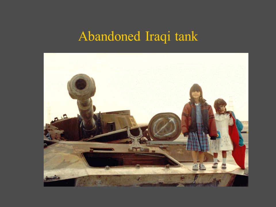 Abandoned Iraqi tank