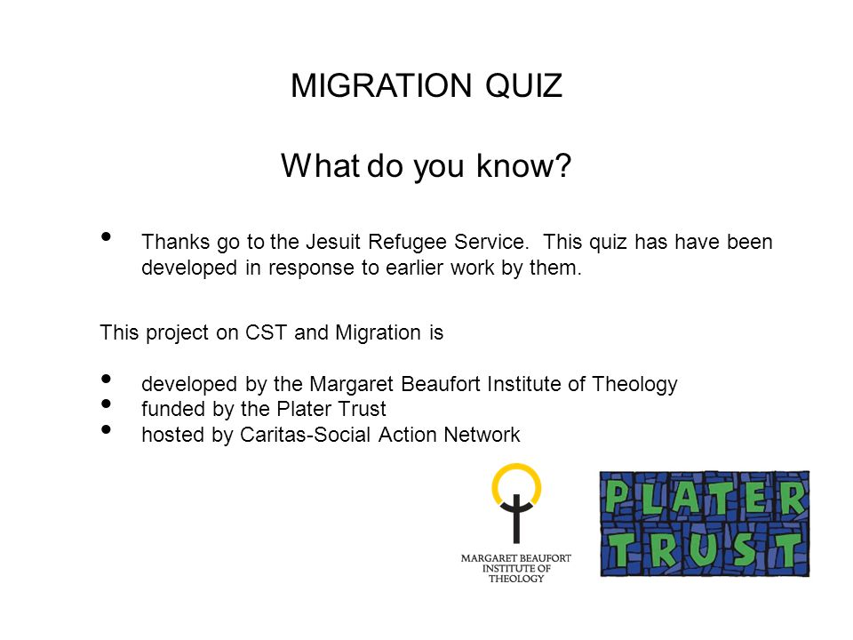 Thanks go to the Jesuit Refugee Service.