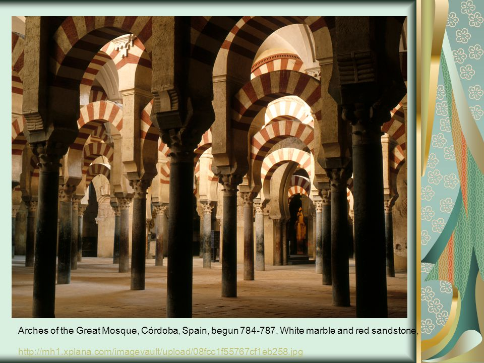 Arches of the Great Mosque, Córdoba, Spain, begun 784-787.