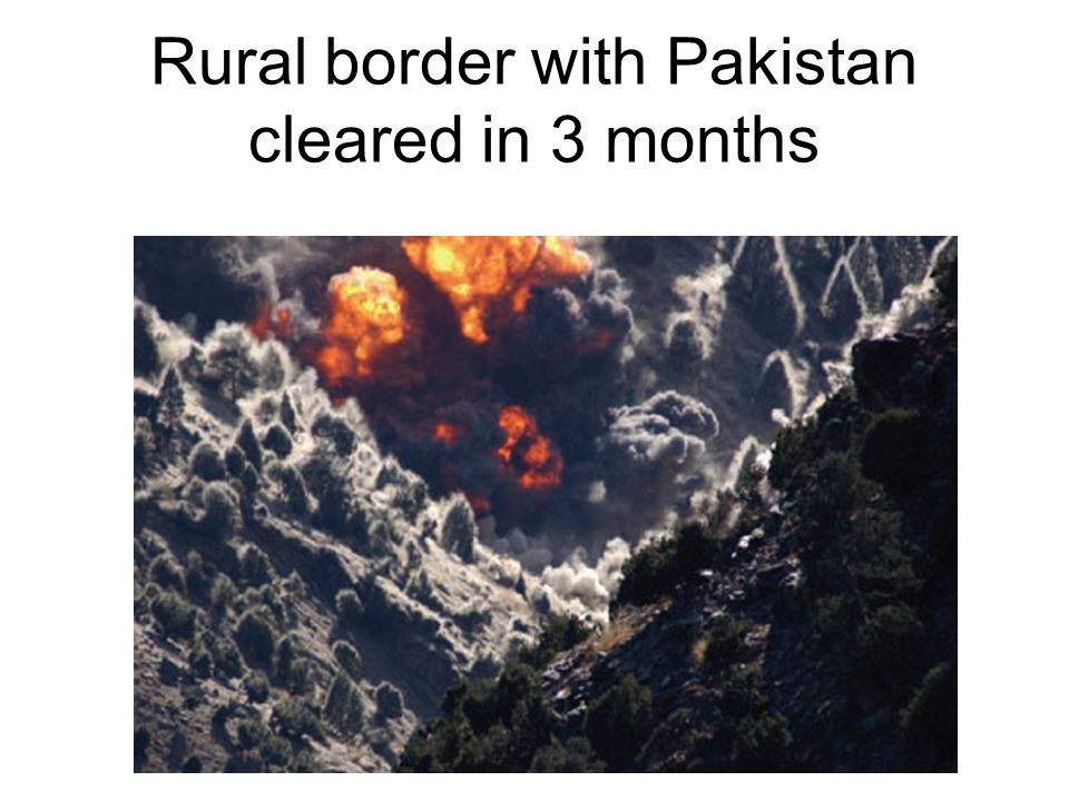 Rural border with Pakistan cleared in 3 months