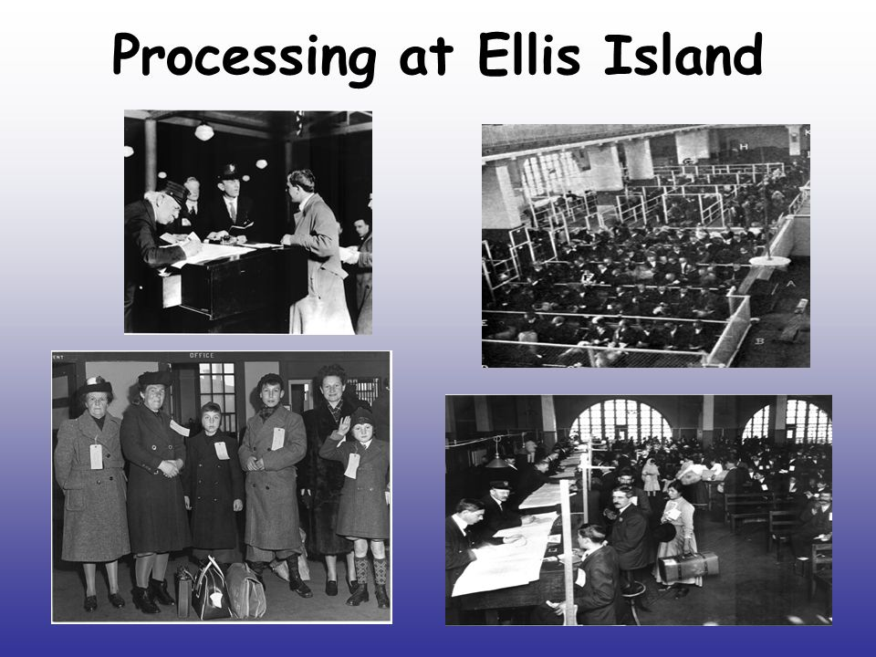 Processing at Ellis Island