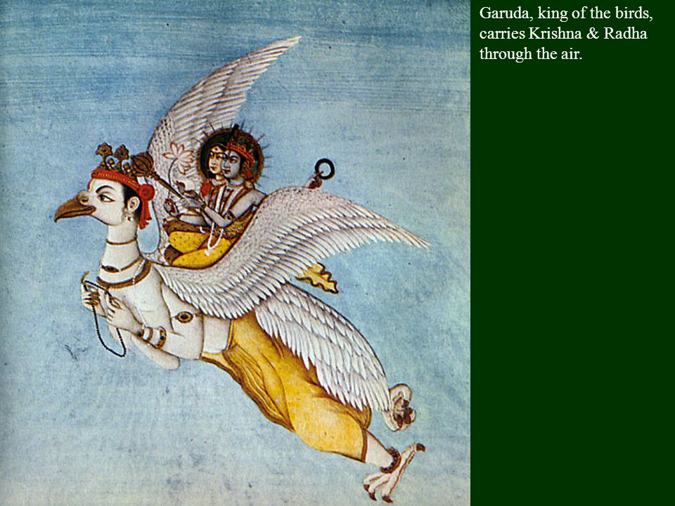 Krishna was the most popular of Vishnu's avatars & the subject of many stories. As a mischievious little boy, he was chained to a honey pot by his mot