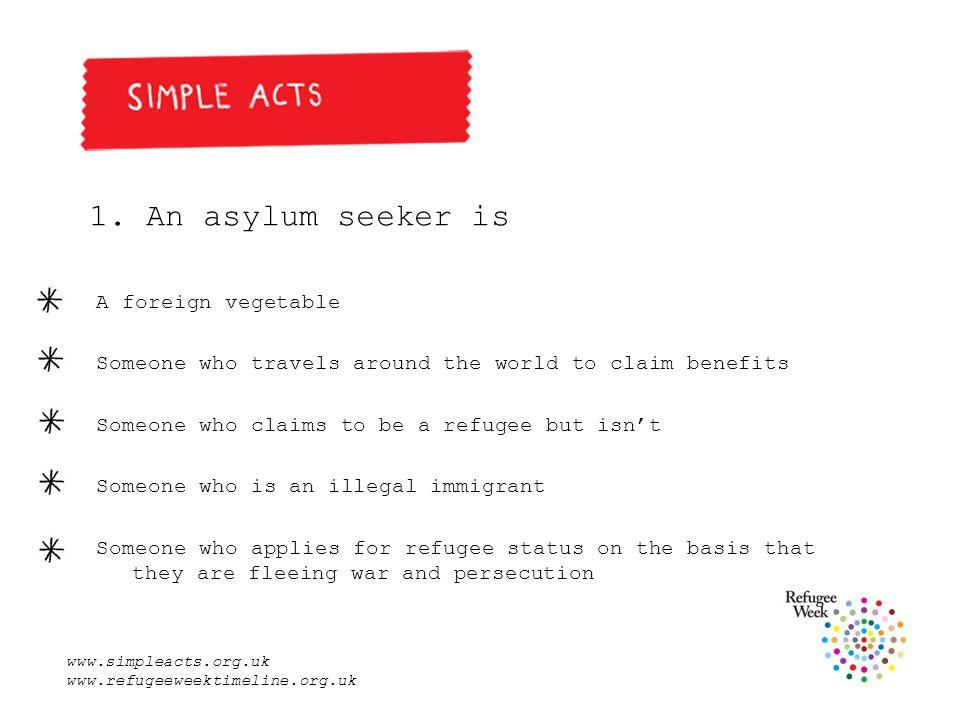 www.simpleacts.org.uk www.refugeeweektimeline.org.uk 1.