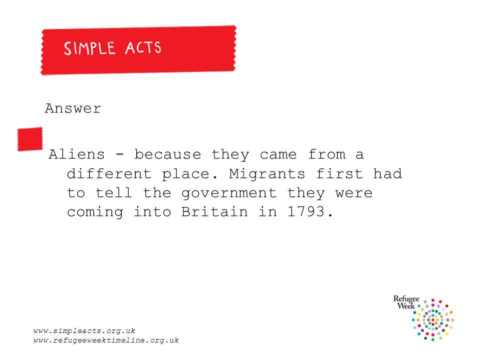 www.simpleacts.org.uk www.refugeeweektimeline.org.uk 10.