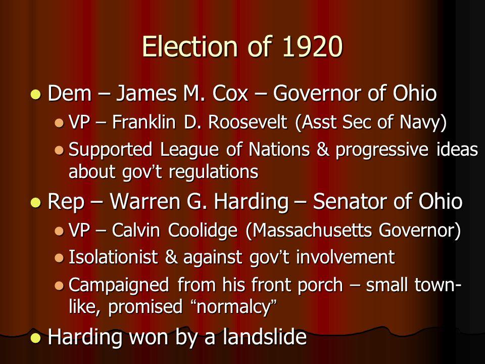 The Roaring Twenties Political History