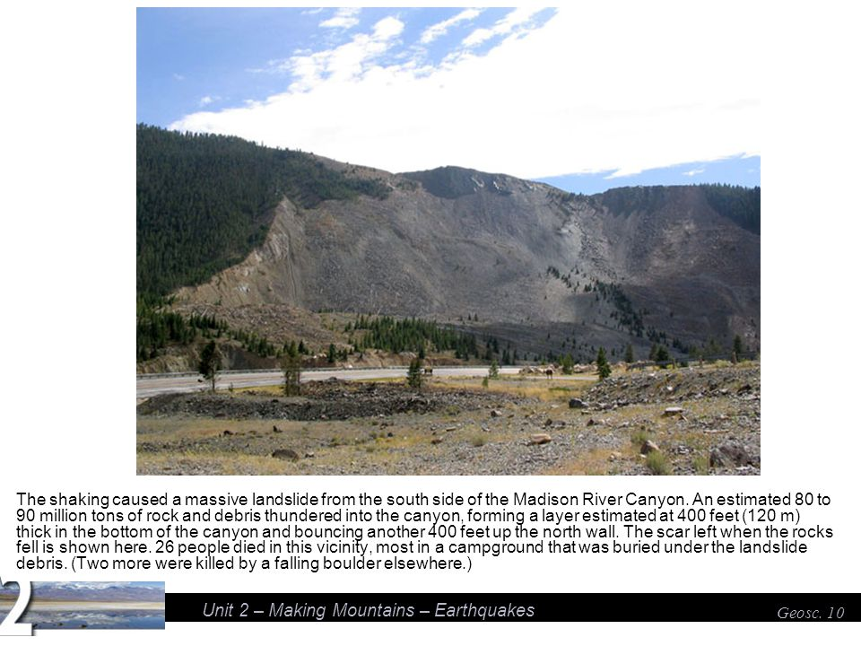 Unit 2 – Making Mountains – Earthquakes Geosc.