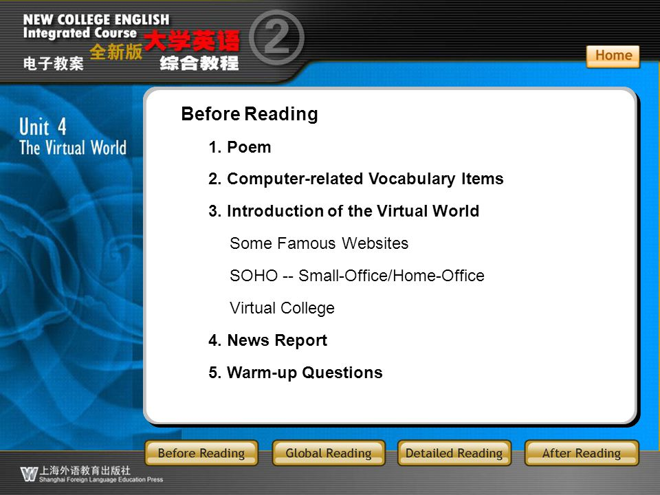 BR1.1 Listen to the poem Surfing the Internet and answer the following questions. II ■
