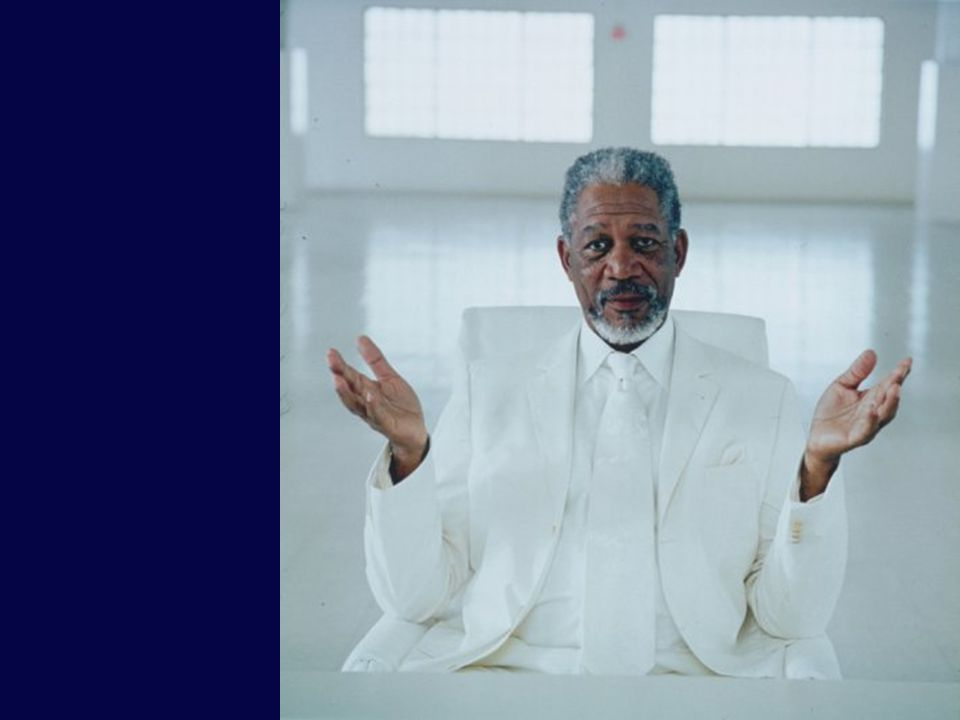 Playing god Morgan Freeman in Bruce Almighty