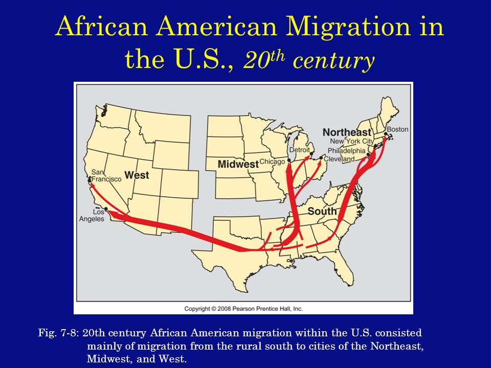 African American Migration in the U.S., 20 th century Fig.