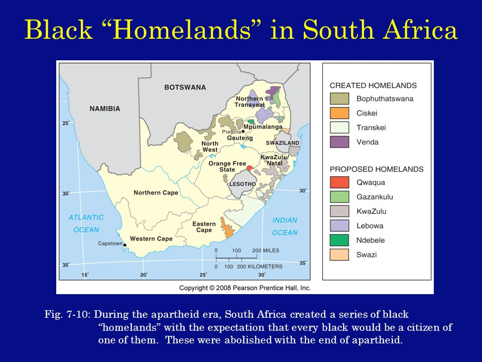Black Homelands in South Africa Fig.
