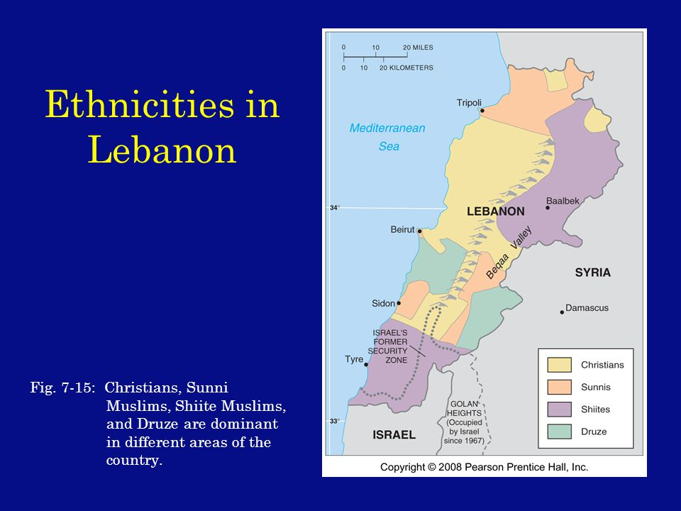 Ethnicities in Lebanon Fig.