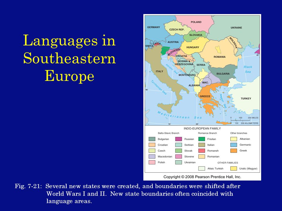 Languages in Southeastern Europe Fig.