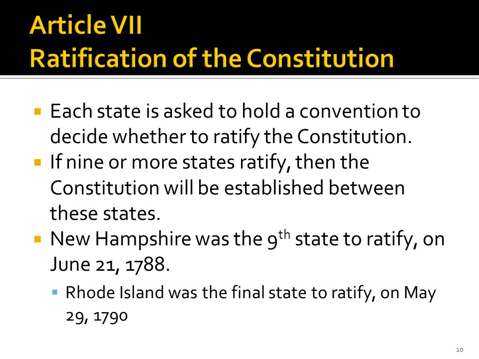  Each state is asked to hold a convention to decide whether to ratify the Constitution.
