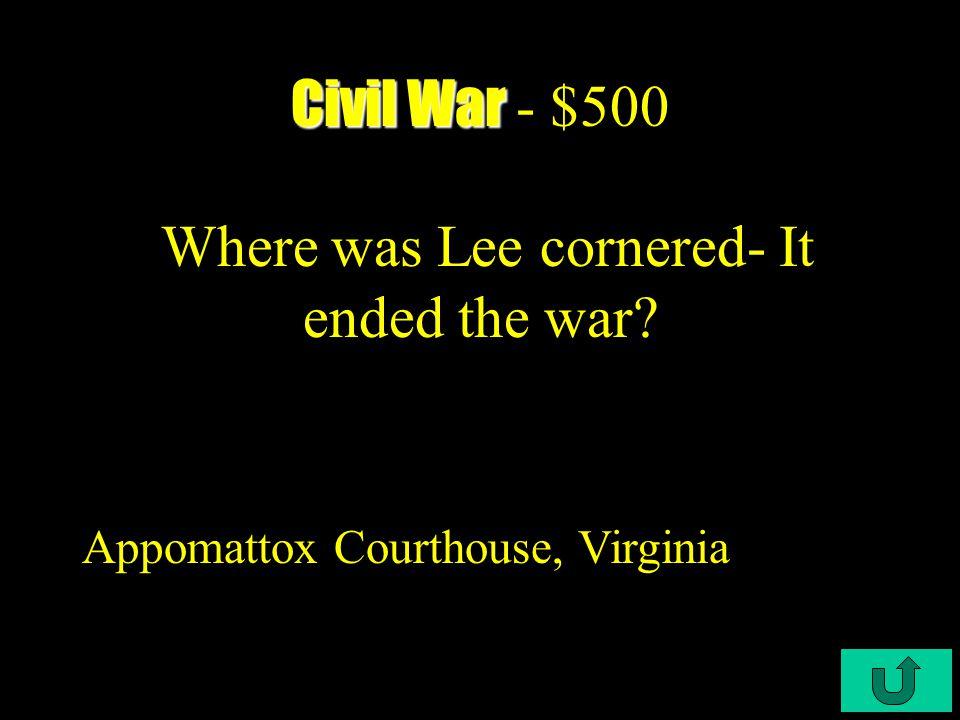 C4-$400 Civil War Civil War - $400 How did the Emancipation Proclamation guarantee a Union victory.