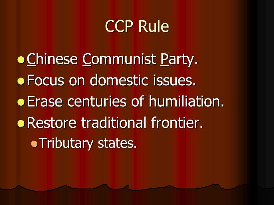 CCP Rule Chinese Communist Party. Chinese Communist Party.