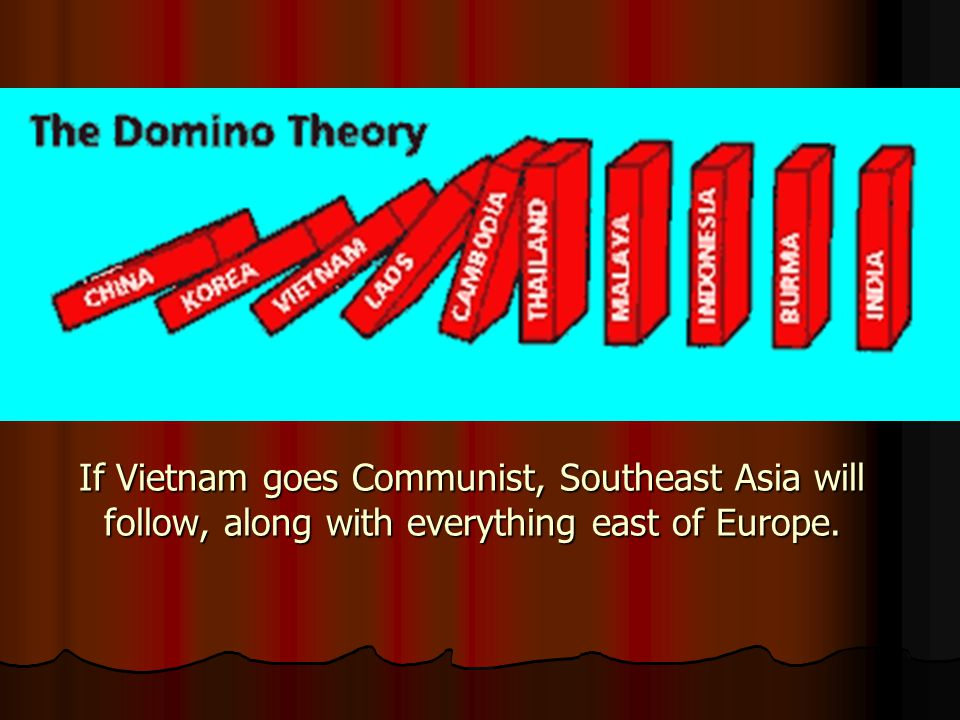 If Vietnam goes Communist, Southeast Asia will follow, along with everything east of Europe.