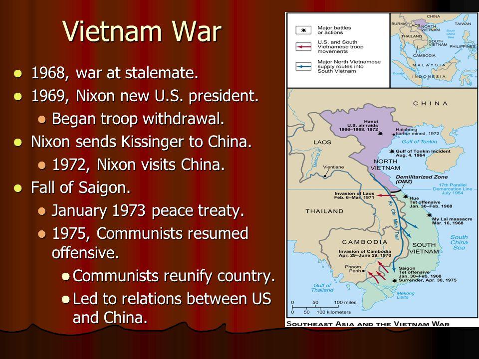 Vietnam War 1968, war at stalemate. 1968, war at stalemate.