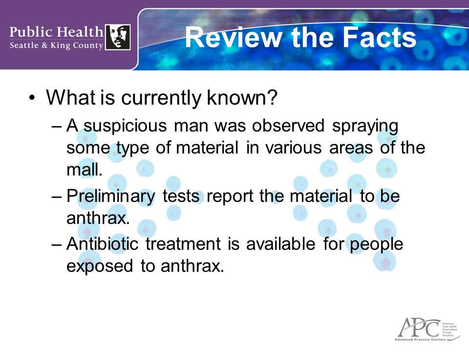 Review the Facts What is currently known.