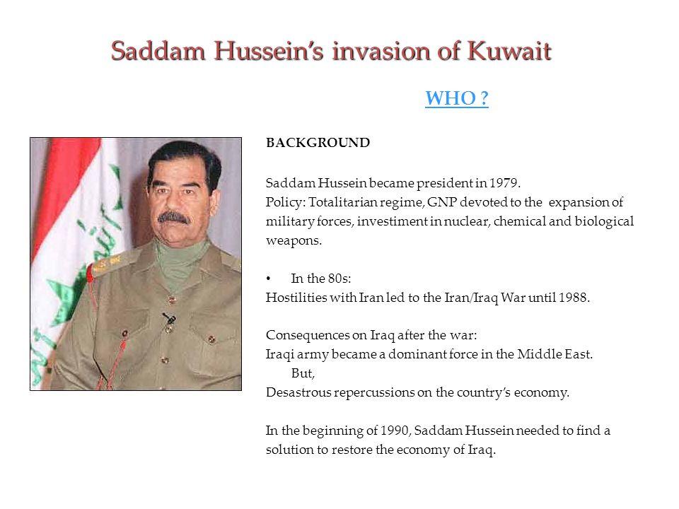 WHY did Iraq invade Kuwait.Economical debt : S.