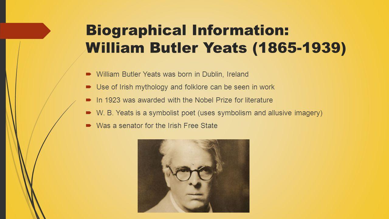 short biography of wb yeats