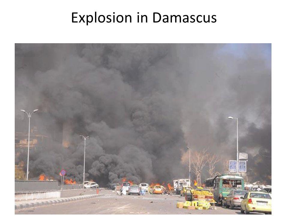 Explosion in Damascus