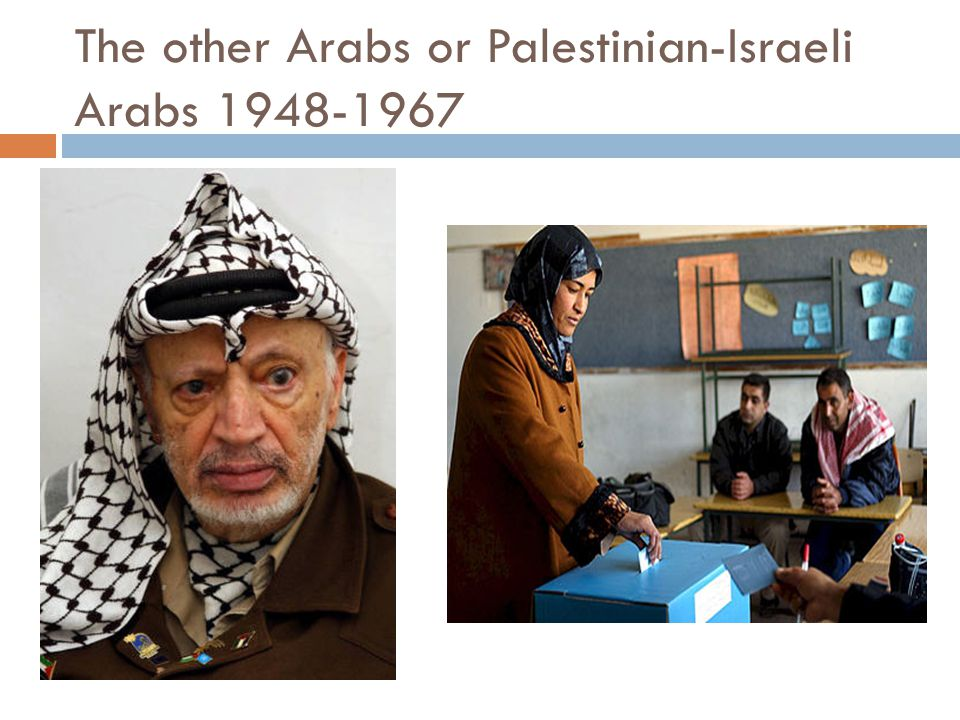 The other Arabs or Palestinian-Israeli Arabs 1948-1967
