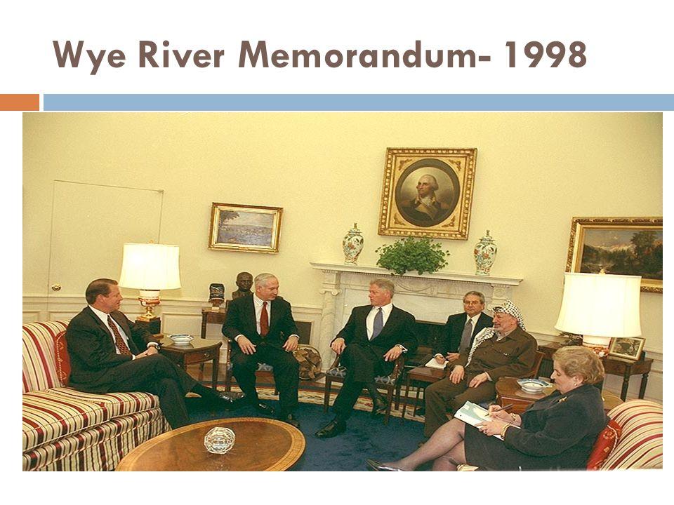 Wye River Memorandum- 1998