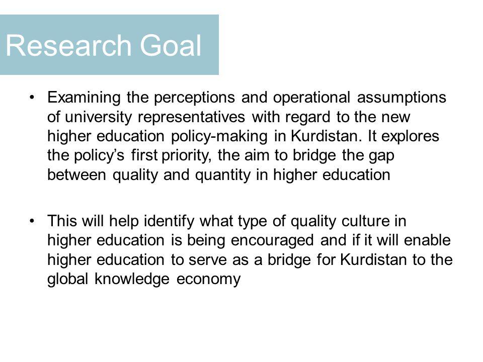 Reforming Teaching to Ensure Quality Source: MoHESR-KRG, 2010