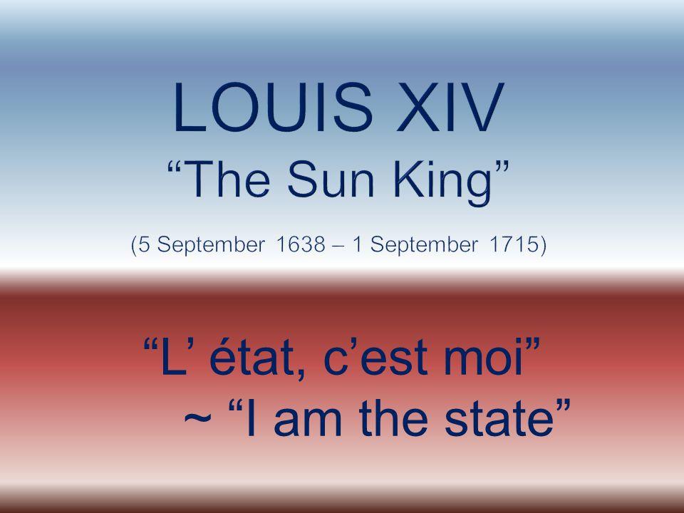 L' état, c'est moi ~ I am the state